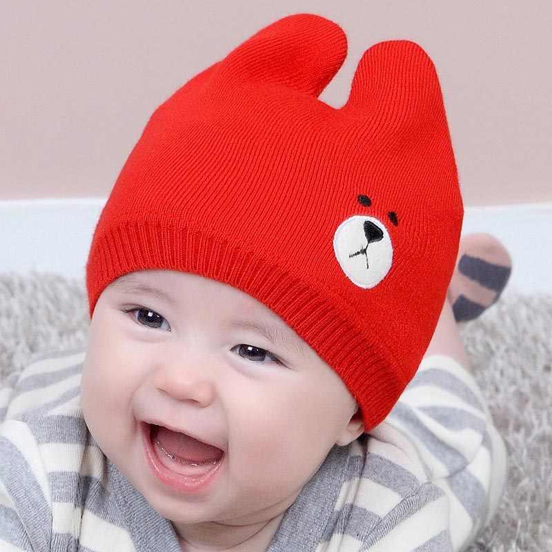 เด็กใหม่เด็กวัยหัดเดินเด็กทารกฤดูหนาวที่อบอุ่นถักหมวกขนสัตว์ Pom Pom หมวก Bobble หมวกหมวกหมวกฤดูหนาวที่อบอุ่น 0-24 M