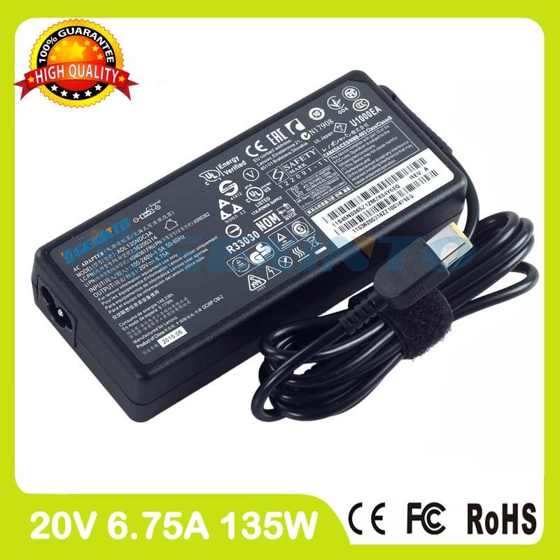 20 v 6.75a 135 w ultra sottile laptop ac adapter 4x20e50569 45n0368 4x20e50570 per lenovo caricatore y70-70t z710 y50c y50p