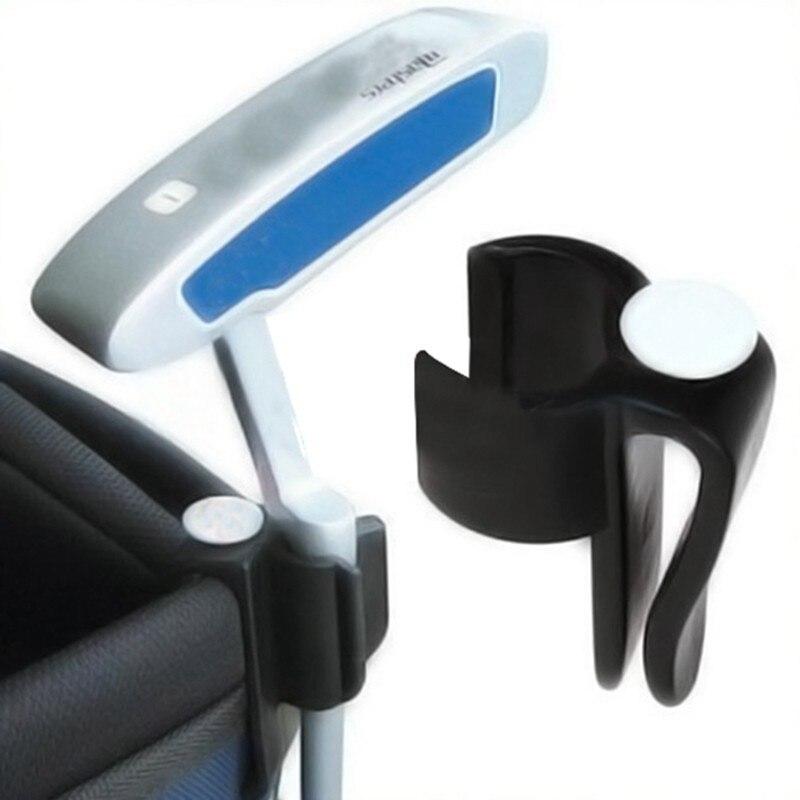 Golf Bag Clip On Putter Clamp Holder Putting Organizer Club Ball Marker Golf Equipment 2piece/pack