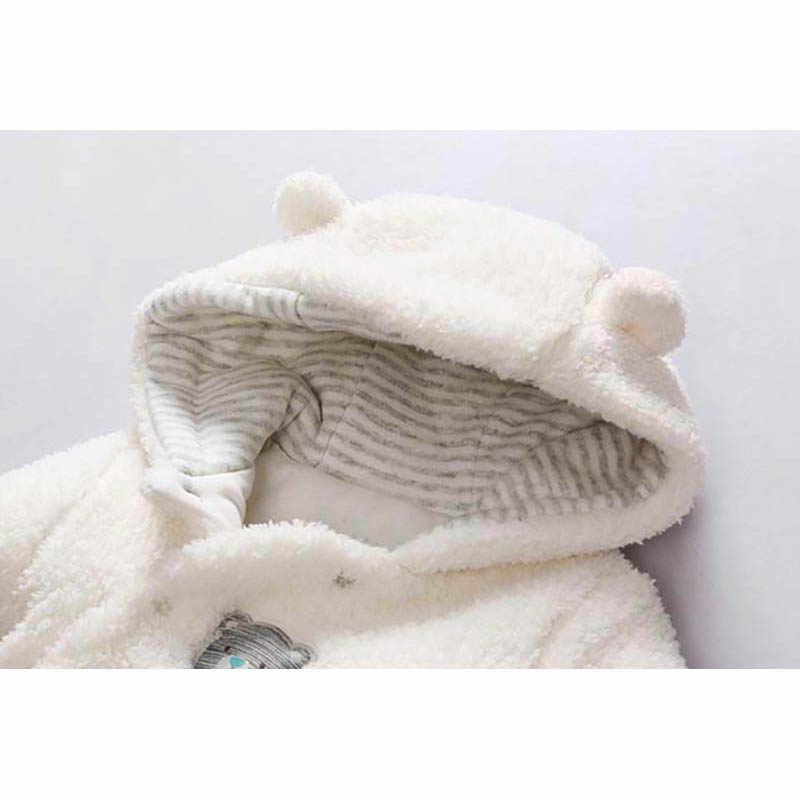 39789b6eb450 Newborn baby clothes bear baby girl boy rompers hooded plush jumpsuit  winter overalls for kids roupa menina baby clothing