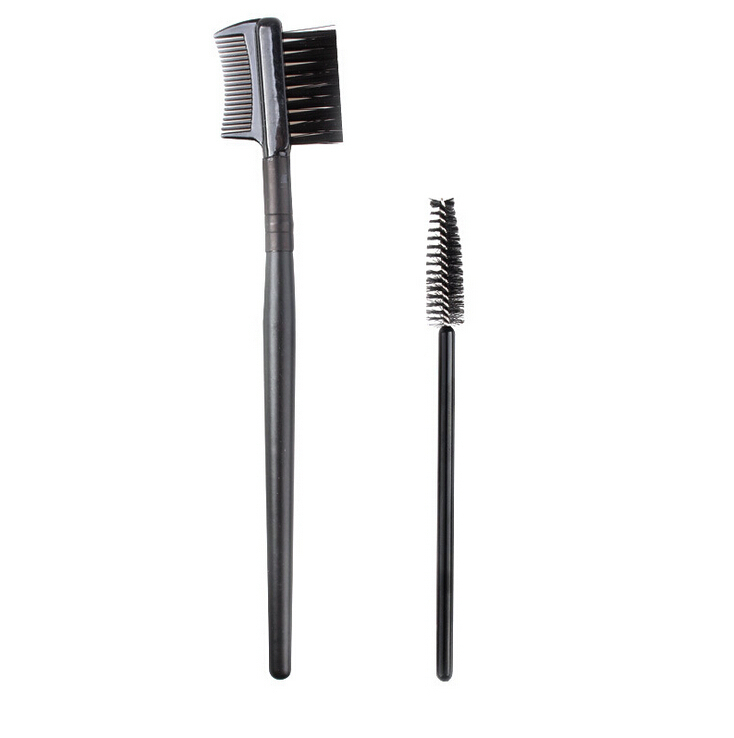 2PCS Eyelash Brush + Eyebrow Comb Makeup Brush Set Professional Volume Eyelashes Free Shipping