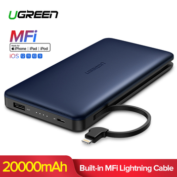 Ugreen 20000 mah Power Bank Voor iPhon Xs Max Xiaomi Voor Bliksem Powerbank Draagbare Externe Batterij Oplader Voor Telefoon Poverbank