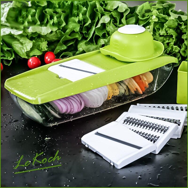 Adjustable Mandoline Slicer with 4 Interchangeable Stainless Steel Blades -Vegetable Cutter Peeler Slicer Grater BOX