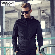 Enjeolon top brand 2017 hooded pilot Bomber jackets men, fashion black Mens coats costume,hoodies collar Men cool clothes WT0240(China)