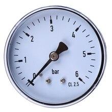 Металл 1/4 «NPT 2.3» Лицо 6 Бар Вода Масло Воздушный Компрессор Давления Гидравлические Манометр Давления Измерительные Приборы