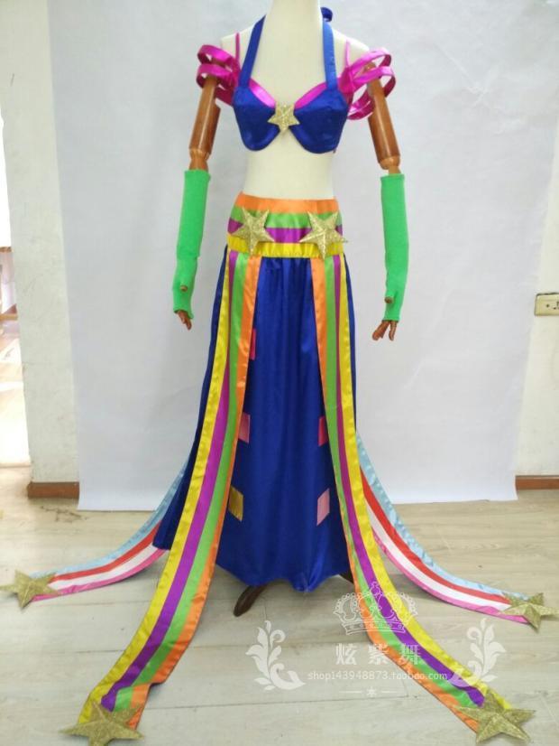 2016 LOL Sona Buvelle Maven des cordes costume cosplay robe Sona