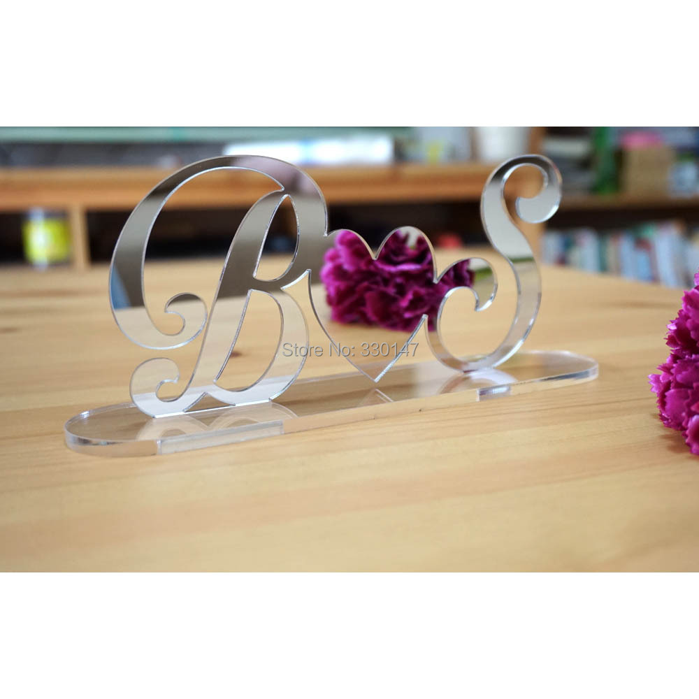Wedding Gift Table Ideas: Custom Big Letter Mirror TableShow Personalized Acrylic