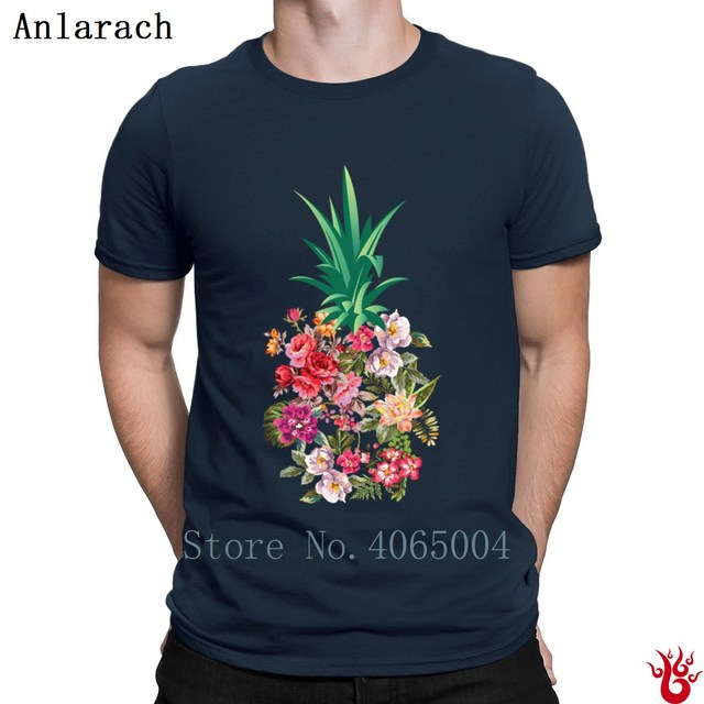 6c707162b37 Pineapple Flowers Aloha Hawaii Vintage Hawaiian T-Shirt Pop Top Tee  Authentic Men s Tshirt 2018 S-Xxxl Fit Slim Original