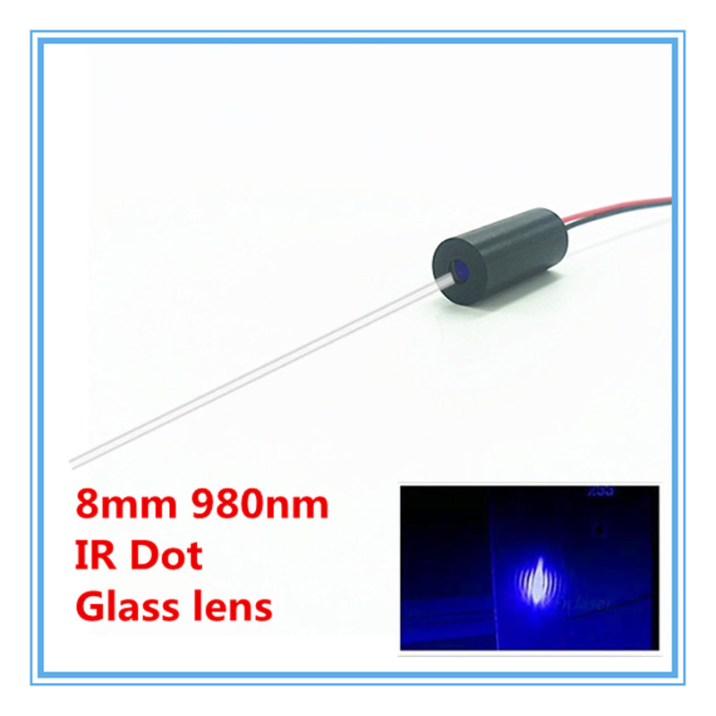 High End Glass Lens 8mm 980nm 1mW 5mW 10mW IR Dot Laser Module Industrial Grade APC Driver