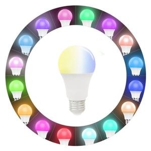Image 3 - E27 WiFi חכם אור הנורה RGB LED מנורת 11W צבעים Dimmable הנורה בקרת קול תואם עם Alexa ו google עוזר