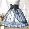 Delle donne di Estate Victorian Gothic Lolita Fascia Della Vita del Pannello Esterno Chiesa Medievale Dellannata Allacciatura SK Gonna Per Le Signore