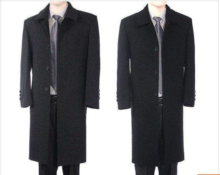 Long Black Men'S Coat D4wjoN
