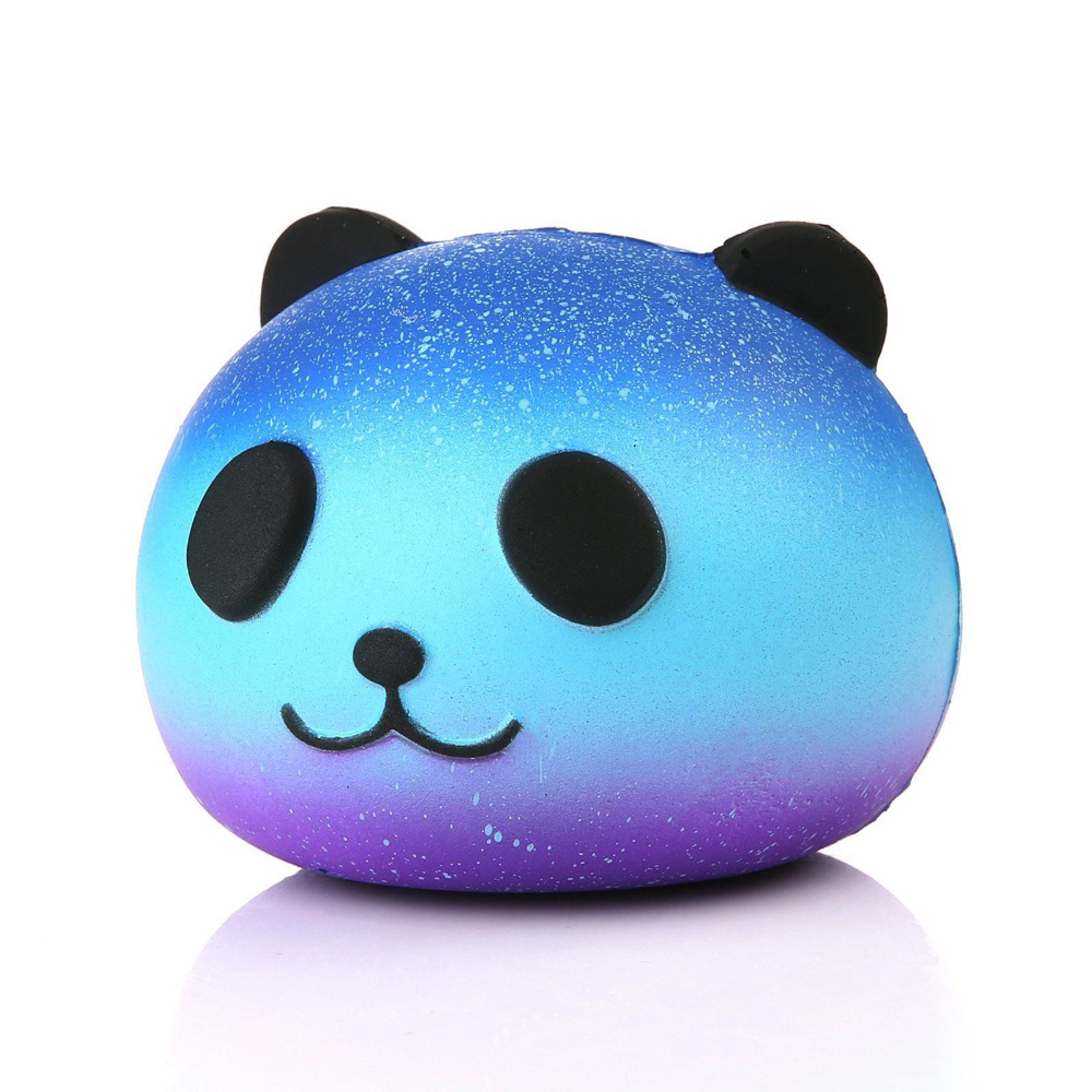 Kids Doll Toys Color Panda Head Animal Soft Squeeze Stretch Compress  Decompression Art Big Star