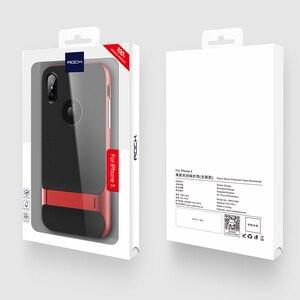 Image 5 - TPU + מחשב לאייפון מקרה X מחזיק רויס רוק מקורי סדרת Kickstand הגנה אנטי דפיקה מקרה עבור iPhone X 10 טלפון בחזרה כיסוי