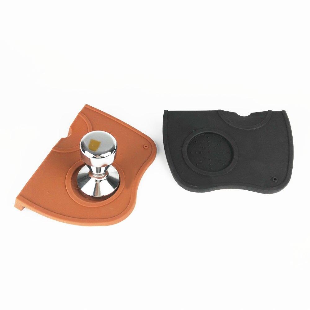 17.5*12.5*3.3cm High Quality Espresso Coffee tamper mat Silicon corner mat Coffee Maker Tamper Mat (no coffee tamper)