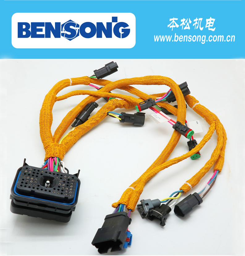 Excavatorsel Engine Parts 195 Wiring Harness For