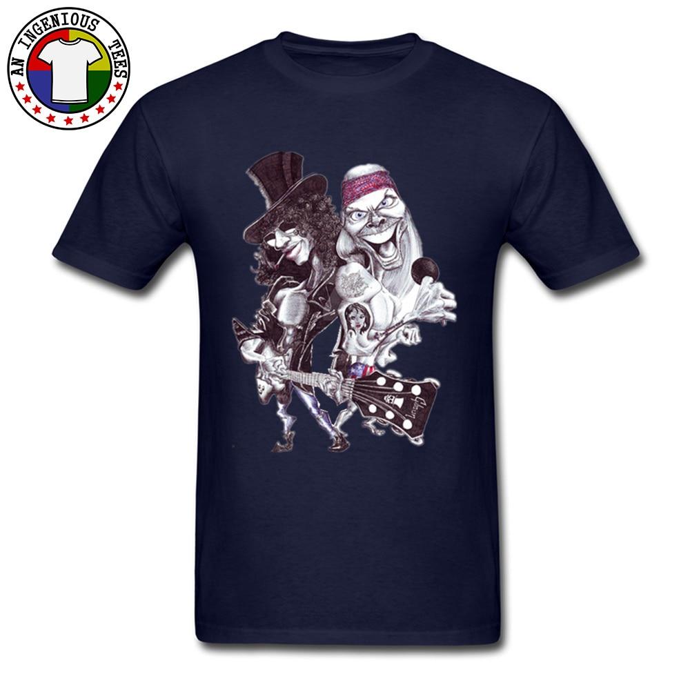 On Sale Man T Shirts O Neck Short Sleeve Pure Cotton Guns N Rose Cartoon Tops Shirts comfortable Tshirts Wholesale Guns N Rose Cartoon navy
