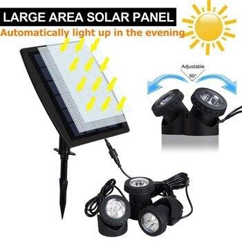 DCOO 3M 6LEDs Solar Luces Subacuáticas Piscinas Al Aire Libre Jardín Fiesta Decoración Estanque Iluminación Sumergible IP65 Impermeable