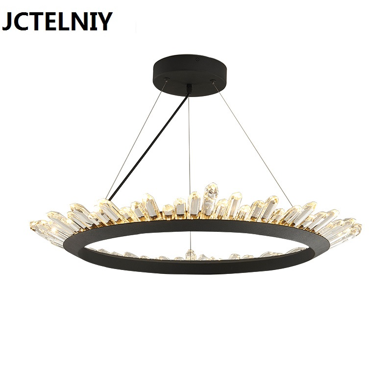 Nordic brief fashion vintage crystal lamp led modern  chandelier lighting fixtures 40cm/60cm/80cm home Height adjustable