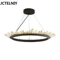 Nordic Brief Fashion Vintage Crystal Lamp Led Modern Chandelier Lighting Fixtures 40cm 60cm 80cm Home Height