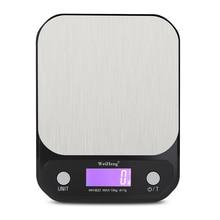 Balanza Digital de acero inoxidable de gran calidad, báscula de peso de 10kg/1g 3kg/5kg 0,1g, báscula electrónica de precisión para hornear, báscula de peso para Cocina