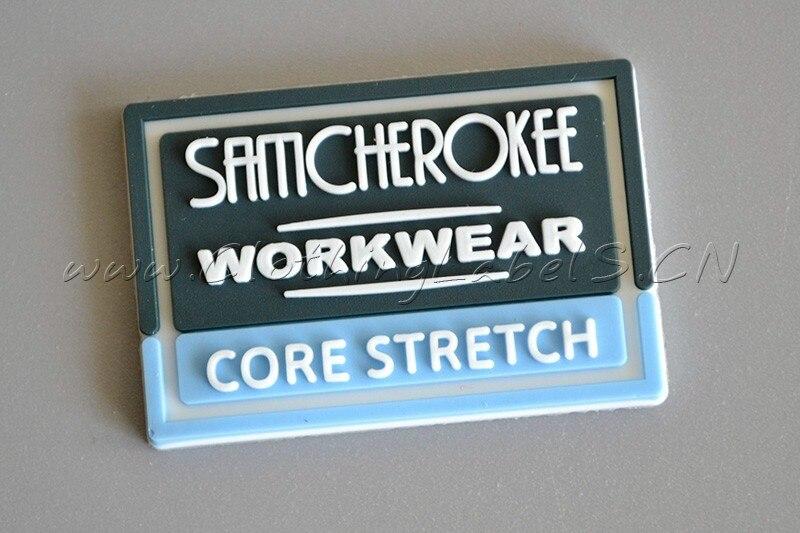 Пользовательские 3D ПВХ этикетки, пользовательские этикетки одежды, ПВХ бирки, тисненый логотип с канавкой