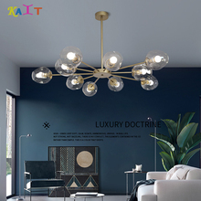 KAIT Gold/Black Color Modern led chandelier light , lighting living room
