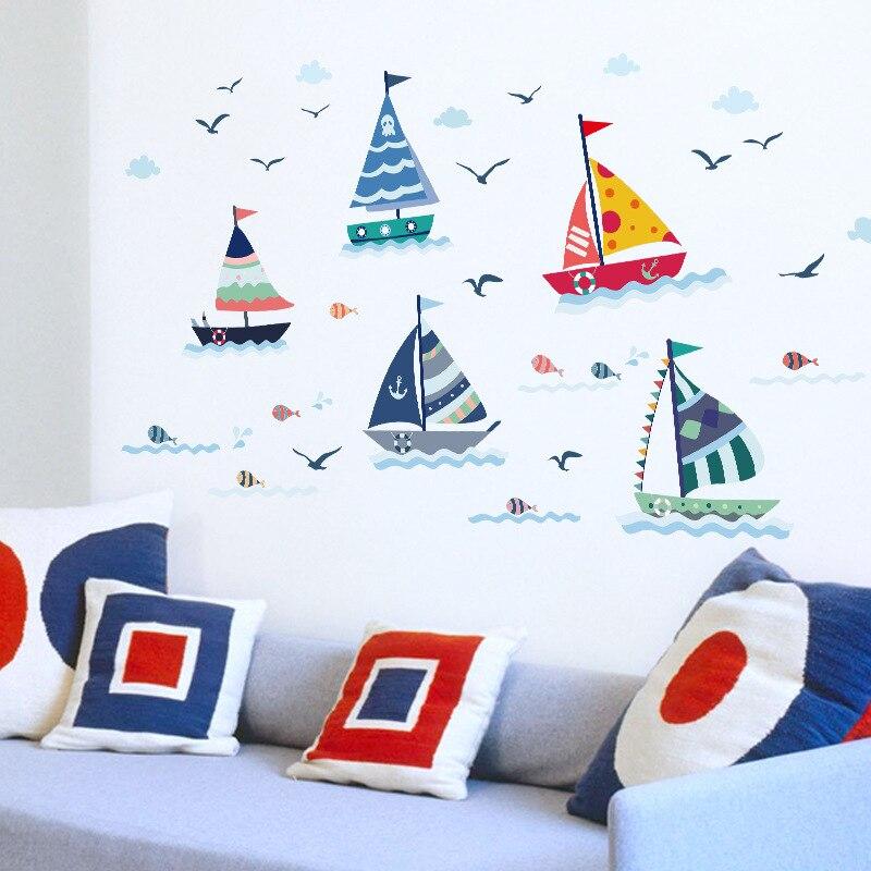 Vela del Océano de la historieta Etiqueta de La Pared para el Dormitorio Salón k