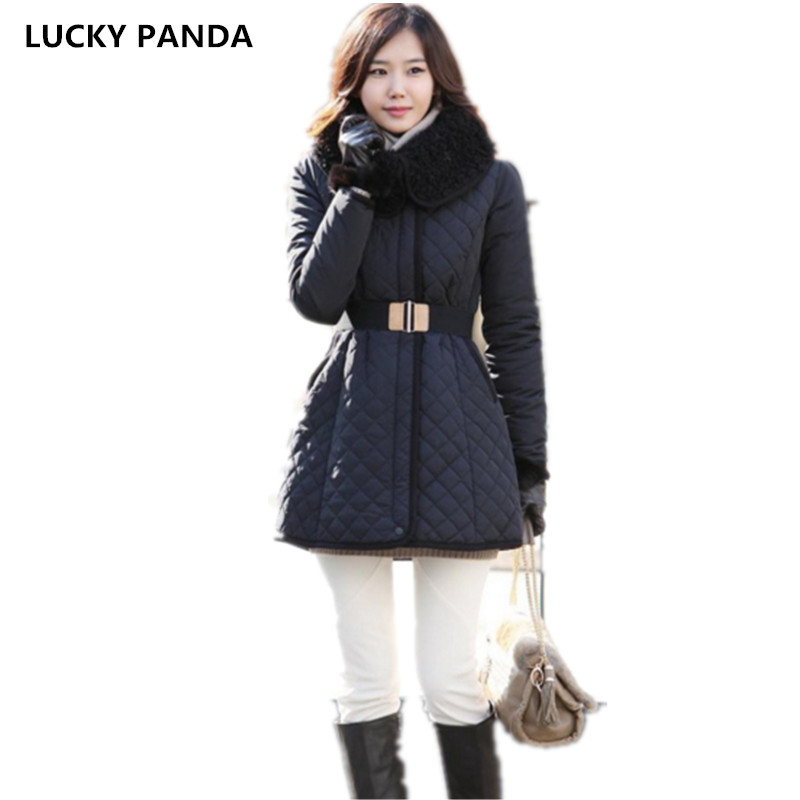 Lucky Panda 2016 The new winter coat and female slim in the long and small lattice fragrant cotton LKP243 lucky panda 2016 the new winter coat and female slim in the long and small lattice fragrant cotton lkp243