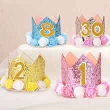 Glucklich Ersten Geburtstag Party Hute Decor Cap One Hut Prinzessin Crown Jahr Alt Anzahl Baby