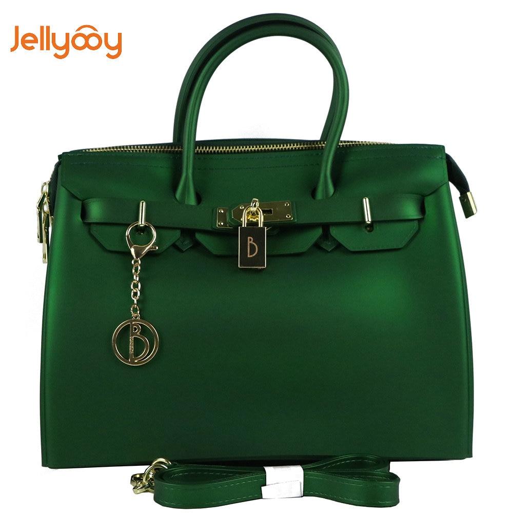 a30d7f3cc26d Jellyooy Beachkins Для женщин замок молнии роскошные сумки матовая желе  сумки Карамельный цвет сумка ПВХ Водонепроницаемый пляжные Сумки