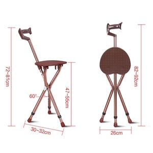 Image 3 - Cofoe ayarlanabilir alüminyum yürümebastonu koltuk ile katlanır koltuk değneği tabure teleskopik baston sandalye 3 bacak oturan Tripod kamışı
