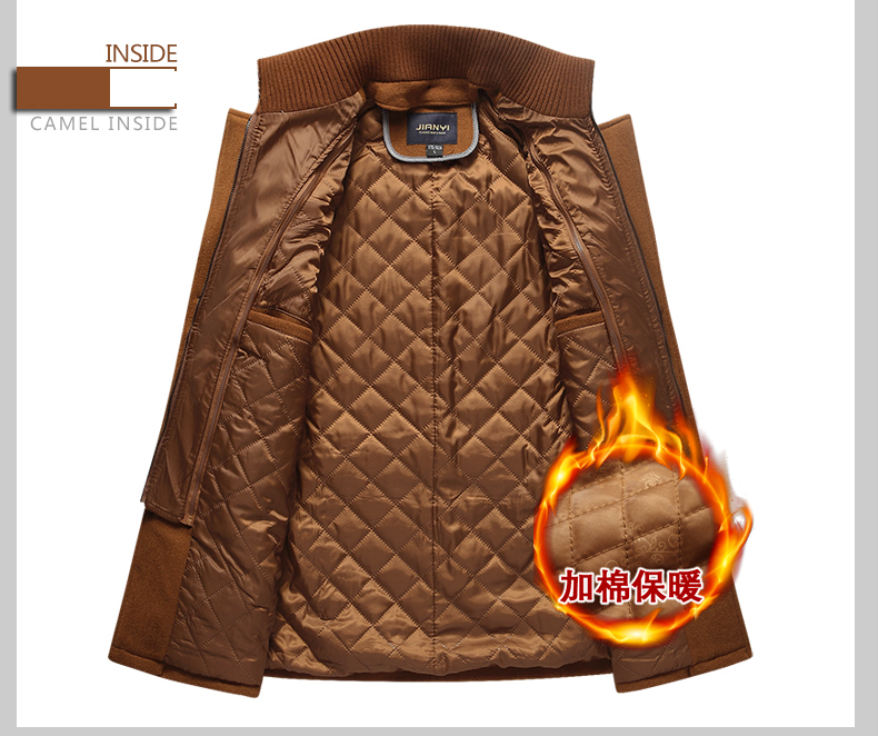 Winter Wool Thick Warm Coat Men Fashion Double Collar Windproof Smart Casual Mens Jackets Outwear Long Woolen Coats DropShipping