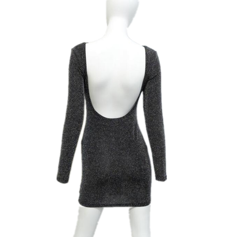 7ac3b90c0c1f New Ladies Sexy Open Back Glitter Sparklette Long Sleeve Skinny Mini Dress  Party Club Dress-in Dresses from Women's Clothing on Aliexpress.com |  Alibaba ...
