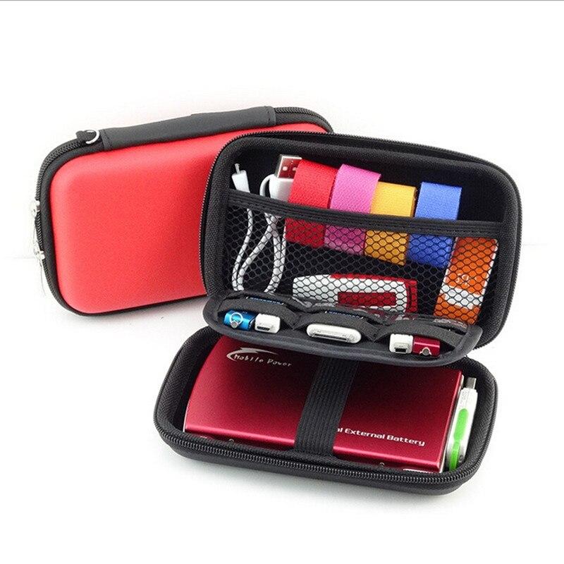 High Capacity Digital Gadget Devices USB Cable Data Line Mobile Kit Case Travel Insert Portable Storage Bag 872194 gadget