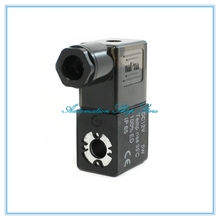 Пневматический электромагнитный клапан катушки Черный DC12V DC24V AC36V AC110V AC220V AC380V