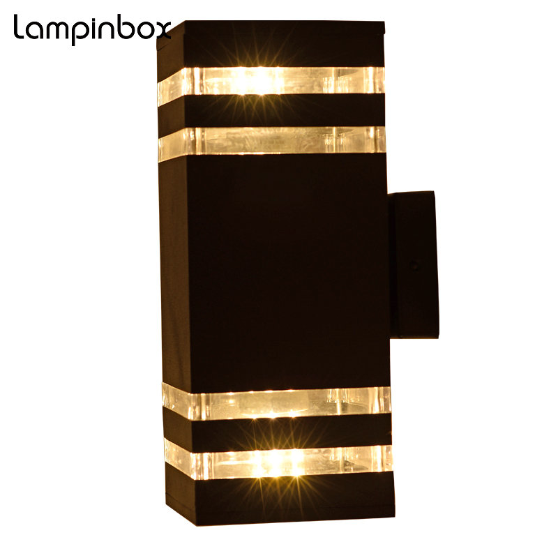 Outdoor Waterproof Wall Lamp Engineering Lamps Modern LED Balcony Outdoor Double Light Garden Lights Aluminum wall Lamps LP-012 modern aluminum balcony patio wall lights led wall light waterproof outdoor garden porch wall sconces indoor wall lamps bl05