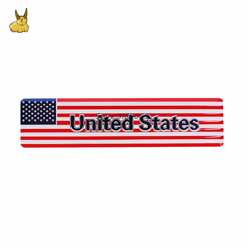 Metal American US Flag Car sticker logo Emblem Badge Car Styling For Toyota Camry Corolla Tord Dodge Ram Honda Accord Civic CRV