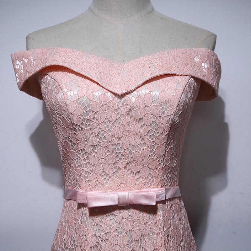 Elegant mama de rochii de mireasa de pe umăr Bow Floral Lace Mermaid - Rochii de seară de nuntă - Fotografie 5