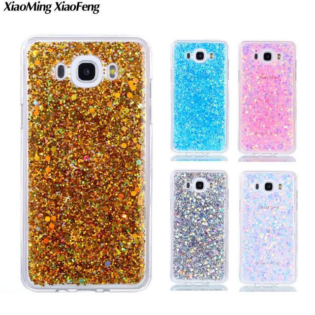 f037a091c83 Para coque samsung galaxy J7 2016 caso silicona Glitter Fundas para  móviles samsung galaxy J7 2016