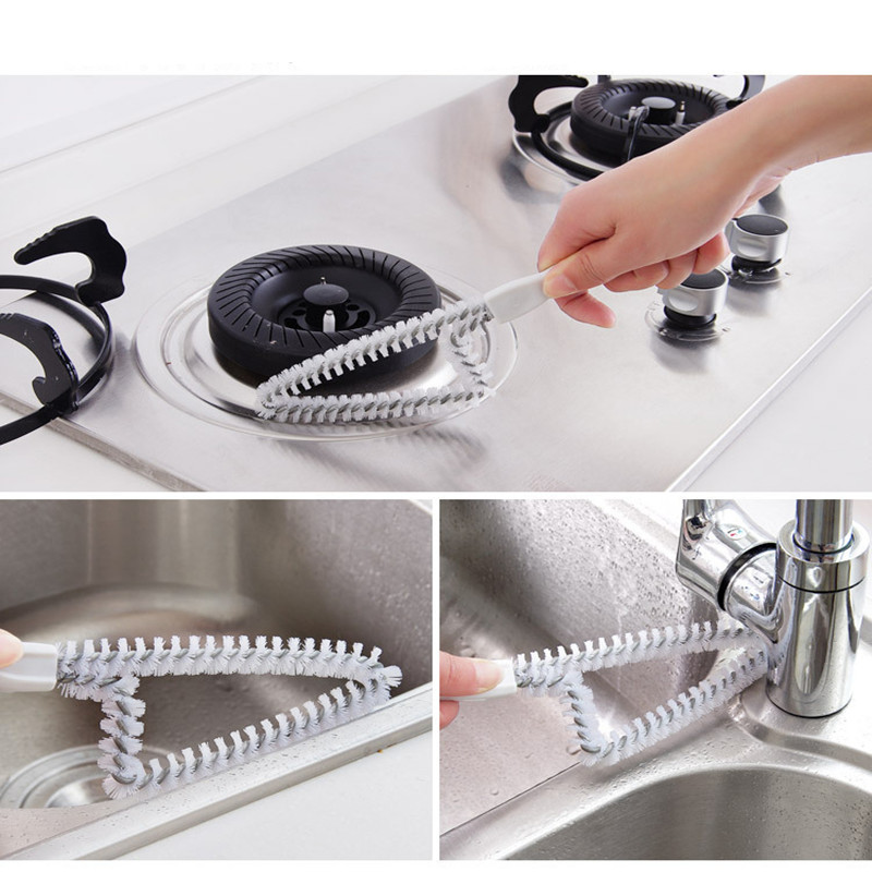 Multifunction Window Groove cleaning brush kitchen gas stove cleaner Household Cleaning tool in Cleaning Brushes from Home Garden