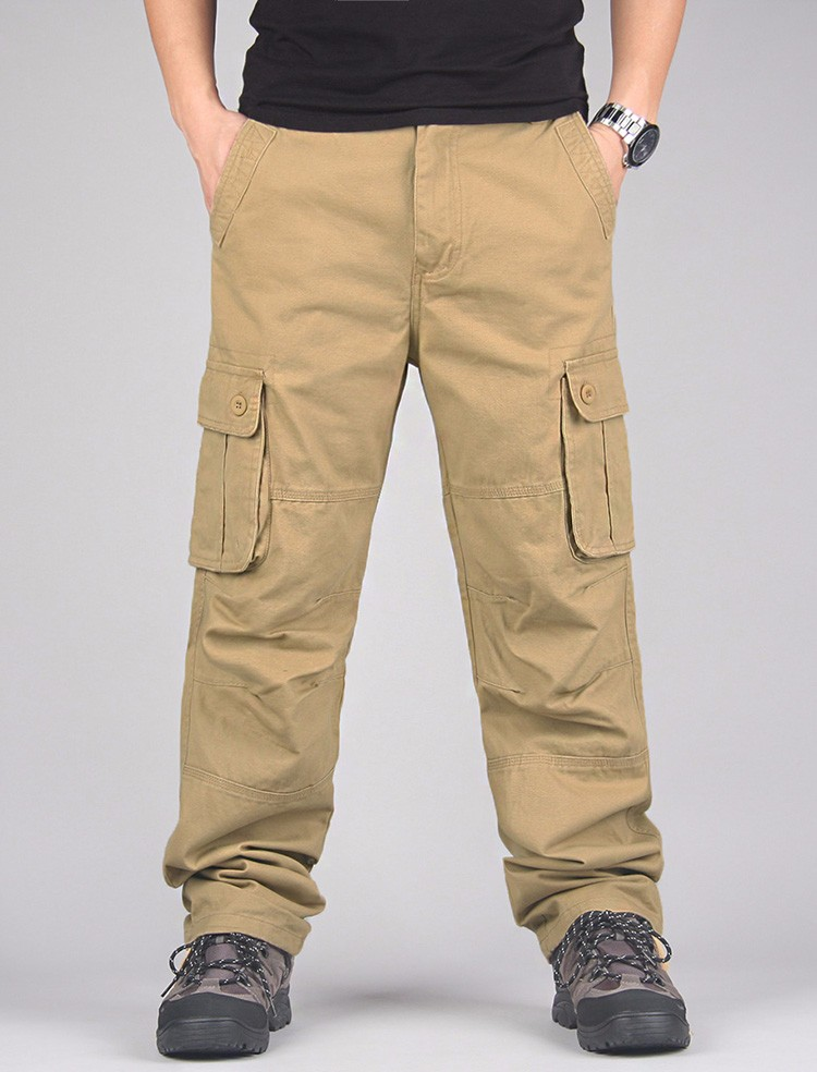 Yolao alta calidad hombres Pantalones cargo joggers Militar para ... 09b1c5d363a0