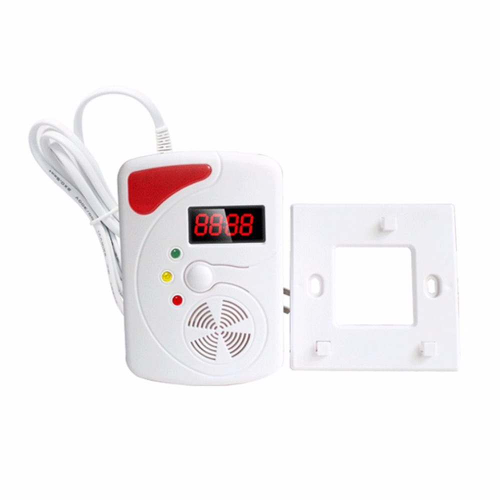 High Sensitivity Smart Voice Gas Leakage Detector Digital Display LPG Detecting Device Home Kitchen Security Alarm Sensor golden security lpg detector wireless digital led display combustible gas detector for home alarm system