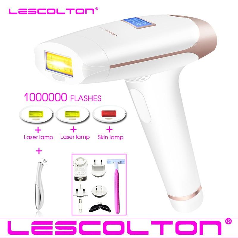 Lescolton 4in1 1000000 tempo di IPL Macchina di Rimozione Dei Capelli del Laser Lazer epilatore con Display LCD di rimozione Dei Capelli Per Boay Bikini Viso