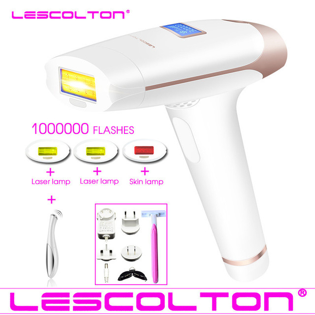 lescolton 4in1 1000000 time IPL Laser Hair Removal Machine Lazer epilator with LCD Display Hair removal For Boay Bikini Face