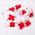 Rojo Romántico Simulado-perla Cristal Nupcial Tocado Pelo de La Boda Accesorios de Novia Joyería Del Pelo de la Venda de la Flor Roja D0056