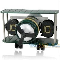 Creative clock model auto flip clock fighter personalized clock novelty fashion gift