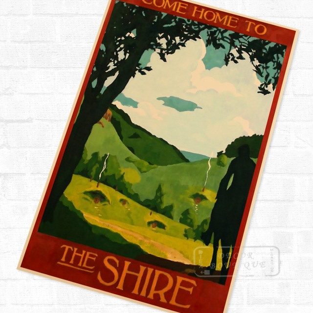 Hobbit Home Shire New Zealand Travel Vintage Retro Kraft Poster ...