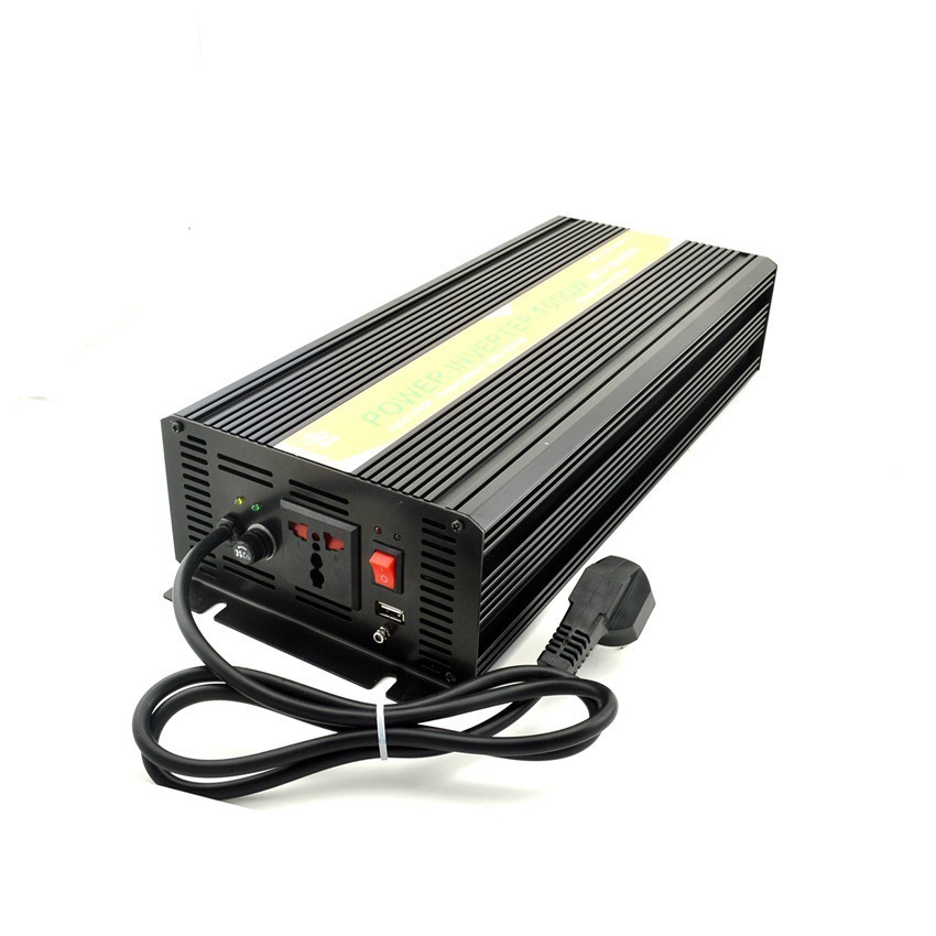 цена на MKELE power inverter 12v to 110v inverter DC TO AC pure sine wave inverter with charger 1000w