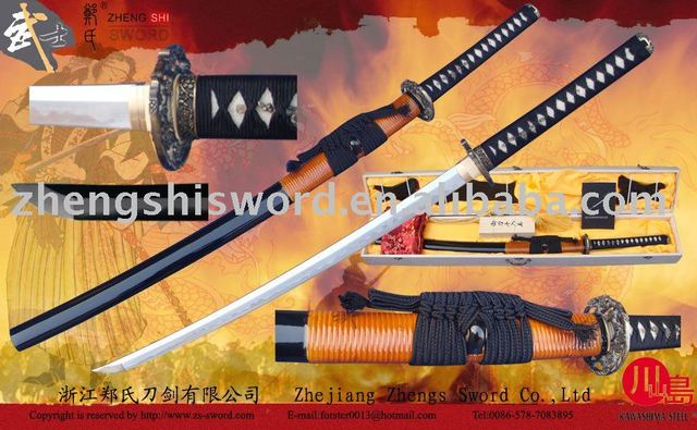Handmade quality clay-tempered samurai sword with specail hamon